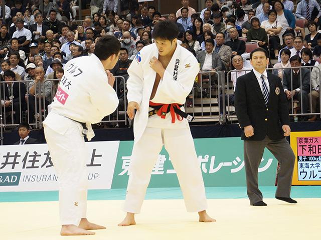 男子100kg級決勝戦 ウルフアロンvs下和田翔平�@