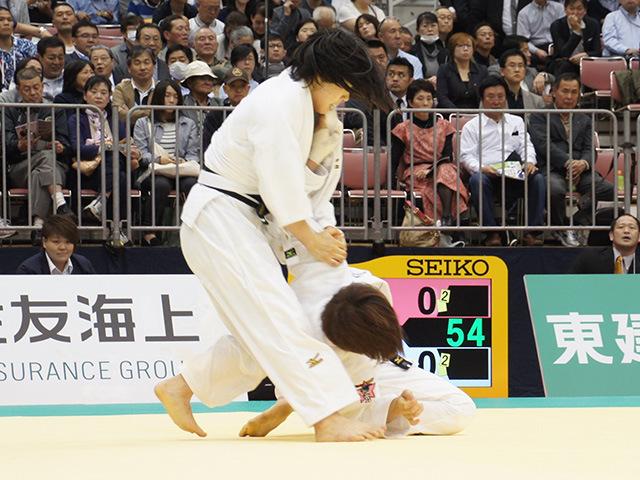 女子63kg級準決勝戦 田代未来vs能智亜衣美