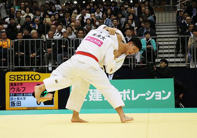 男子100kg級準決勝戦 ウルフアロンvs飯田健太郎
