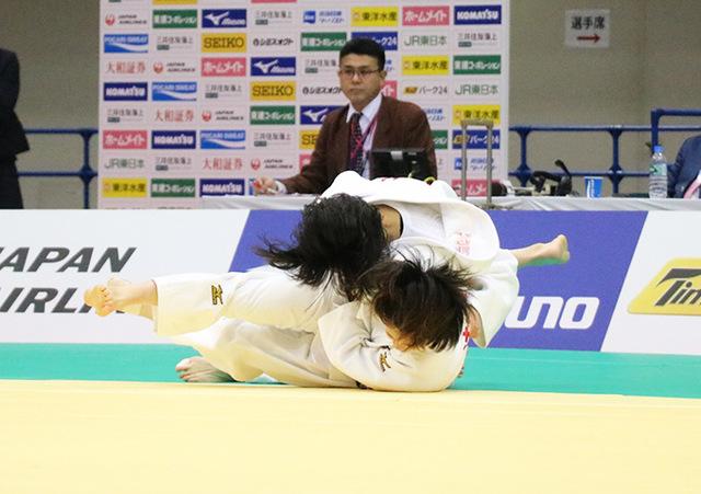 女子48kg級1回戦 遠藤宏美vs岡本理帆