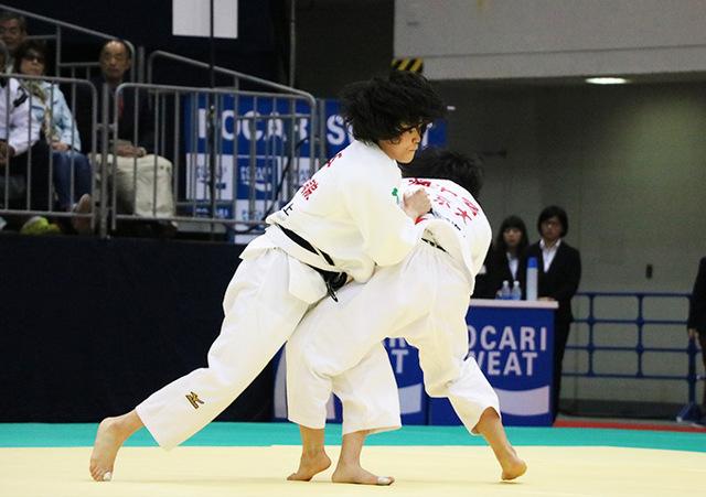 女子48kg級準決勝戦 渡名喜風南vs岡本理帆