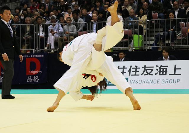 女子57kg級 芳田司 vs 月野珠里