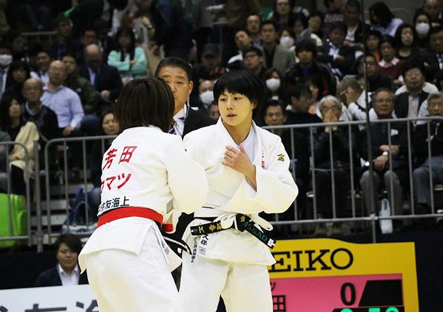 女子57kg級準決勝戦 芳田司vs舟久保遥香�@