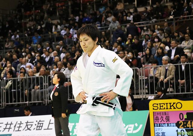 女子57kg級決勝戦 舟久保遥香vs宇高菜絵�B