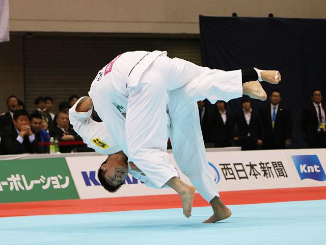 男子90kg級準決勝戦 長澤憲大vsベイカー茉秋