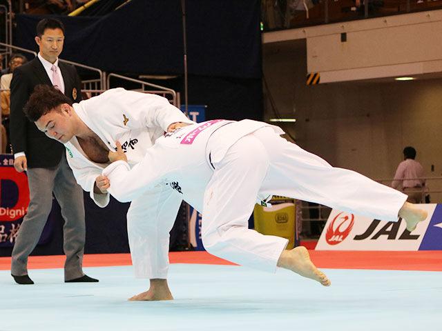 男子100kg級準決勝戦 ウルフアロンvs垣田恭兵