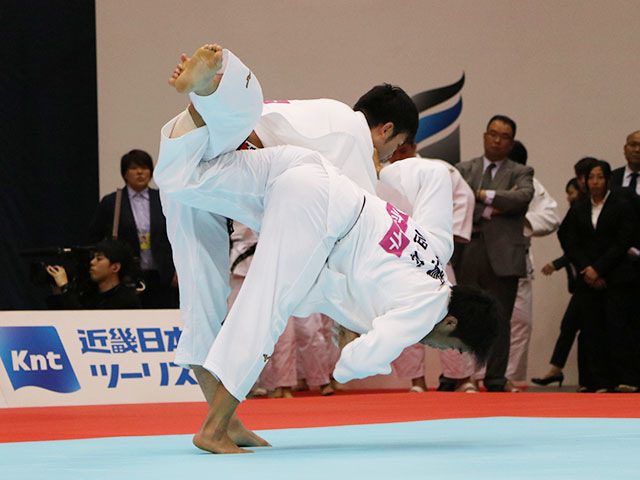 男子100kg級準決勝戦 飯田健太郎vs羽賀龍之介
