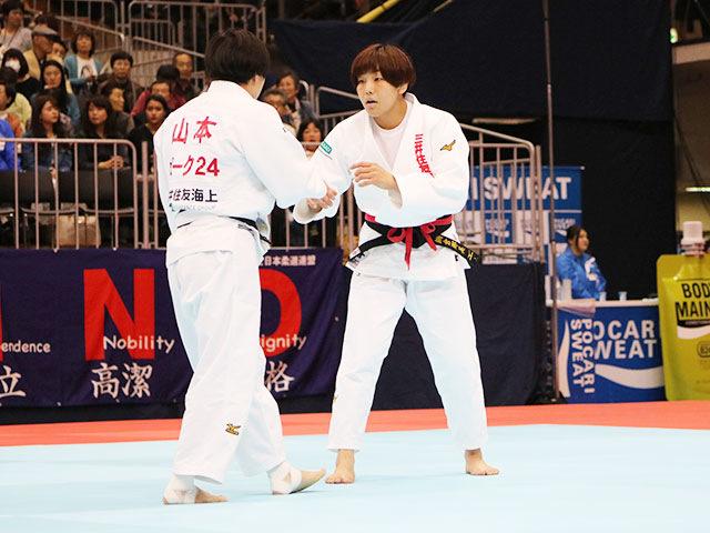 女子63kg級準決勝戦 鍋倉那美vs山本杏�@