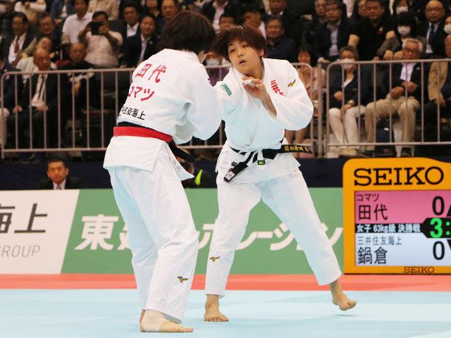 女子63kg級決勝戦 田代未来vs鍋倉那美�@