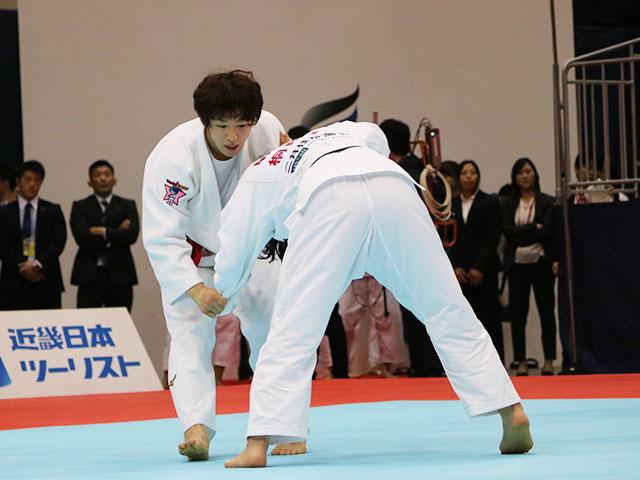 女子70kg級準決勝戦 大野陽子vs朝飛七海