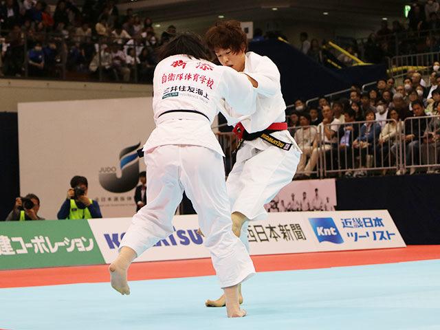 女子70kg級決勝戦 大野陽子vs新添左季�@