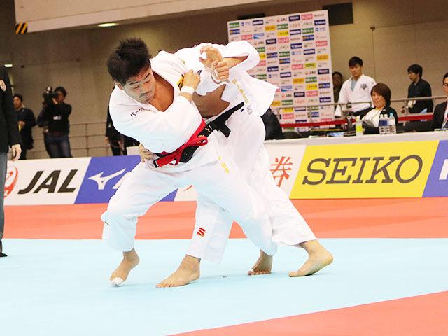男子73kg級1回戦 橋本壮市vs野上廉太郎