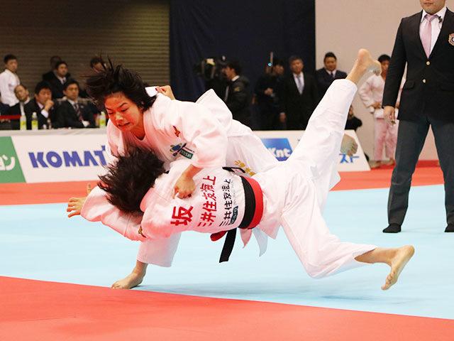 女子48kg級準決勝戦 坂上綾vs山�ア珠美