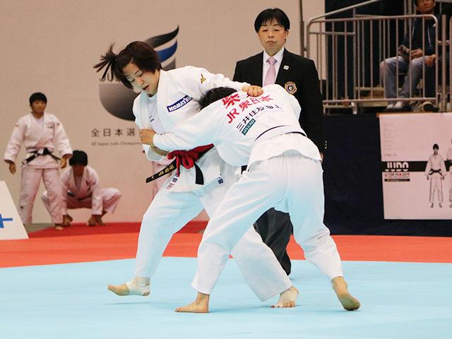 平成31年全日本選抜柔道体重別選手権大会 女子57kg級 1回戦 芳田司 vs 柴田理帆