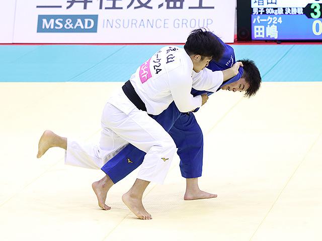 男子90kg級 増山香補 vs 田嶋剛希�@
