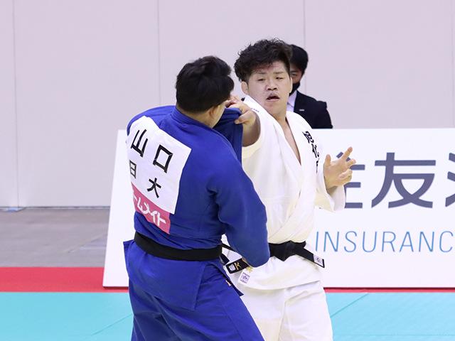 男子100kg級 垣田恭兵 vs 山口貴也