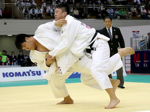 2018年選抜体重別 男子100kg超級 決勝 小川雄勢 vs 原沢久喜