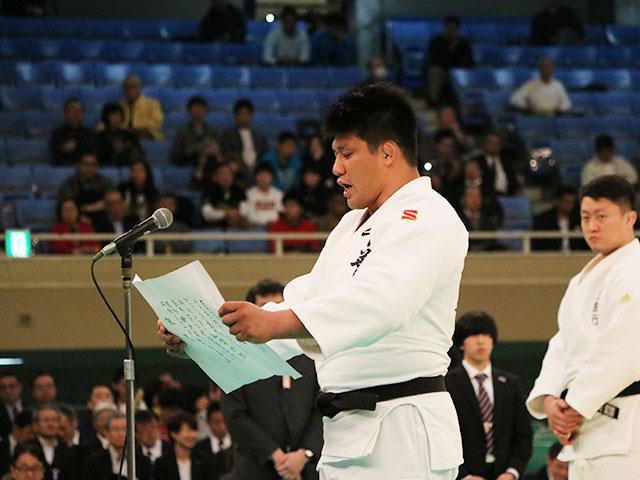 選手宣誓 加藤博剛選手