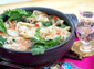 トック(韓国のもち)入り餃子鍋