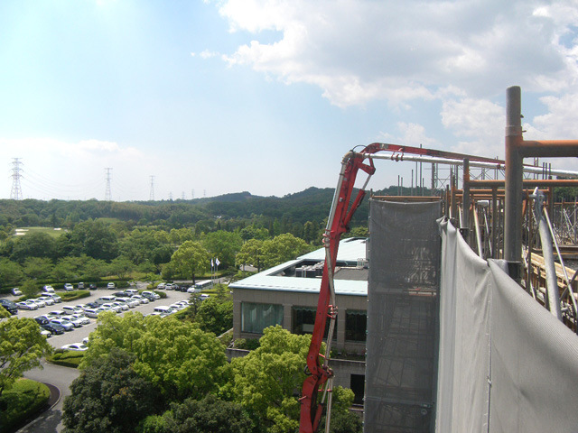 六階柱壁・七階梁スラブ打設完了