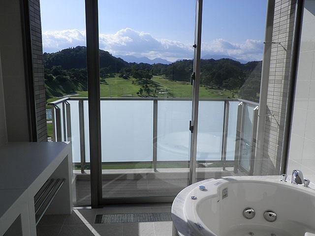 五階モデルルーム・浴室からの風景